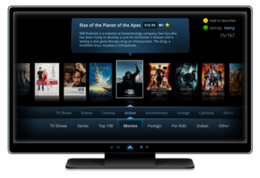 Set-Top Box and TV Content Delivery Applications — Smart TV application