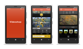 Videoshop: a native mobile video editor — Windows Mobile application